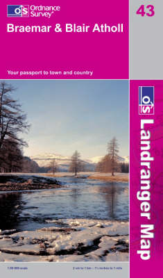 Braemar & Blair Atholl - OS Landranger Active Map 43 (Sheet map, folded)