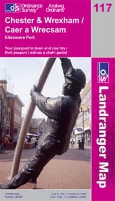 Chester and Wrexham, Ellesmere Port - OS Landranger Map Sheet 117 (Sheet map, folded)