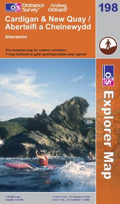 Cardigan and New Quay, Aberaeron - OS Explorer Map Sheet 198 (Sheet map, folded)