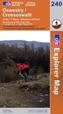 Oswestry / Croesoswallt - OS Explorer Map Sheet 240 (Sheet map, folded)