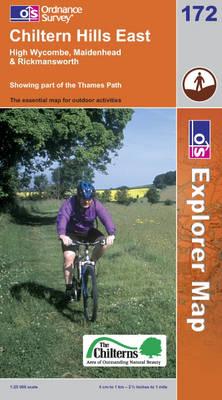 Chiltern Hills East - OS Explorer Map Sheet 172 (Sheet map, folded)