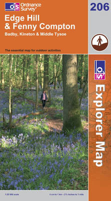 Edge Hill and Fenny Compton - OS Explorer Map Sheet 206 (Sheet map, folded)