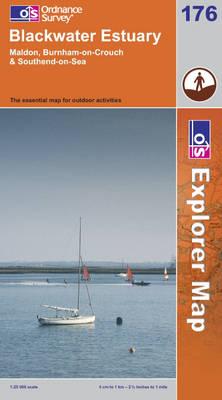 Blackwater Estuary - OS Explorer Map Sheet 176 (Sheet map, folded)