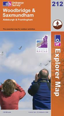 Woodbridge and Saxmundham - OS Explorer Map Sheet 212 (Sheet map, folded)
