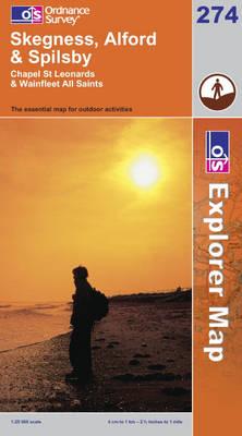 Skegness, Alford and Spilsby - OS Explorer Map Sheet 274 (Sheet map, folded)