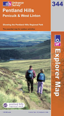Pentland Hills - OS Explorer Map Sheet 344 (Sheet map, folded)