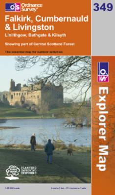 Falkirk, Cumbernauld and Livingston - OS Explorer Map No. 349 (Sheet map, folded)