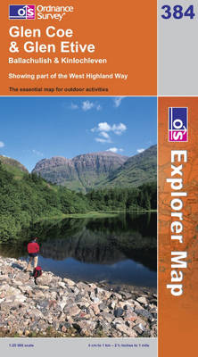 Glen Coe - OS Explorer Map No. 384 (Sheet map, folded)