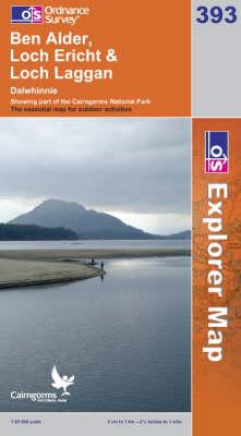 Ben Alder, Loch Ericht and Loch Laggan - OS Explorer Map No. 393 (Sheet map, folded)