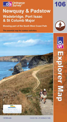 Newquay and Padstow - OS Explorer Map Sheet 106 (Sheet map, folded)