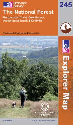 The National Forest - OS Explorer Map Sheet 245 (Sheet map, folded)