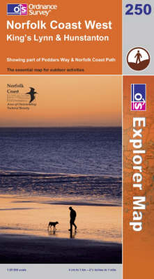 Norfolk Coast West - OS Explorer Map Sheet 250 (Sheet map, folded)