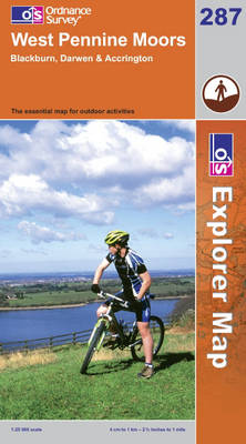 West Pennine Moors: Blackburn, Darwen and Accrington - OS Explorer Map Sheet 287 (Sheet map, folded)