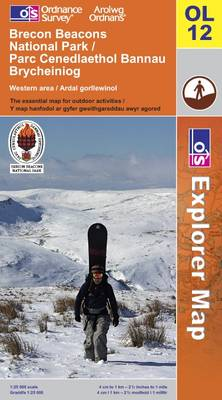 Brecon Beacons National Park: Western and Central Areas - OS Explorer Map Sheet  OL12 (Sheet map, folded)