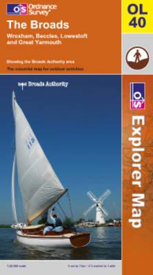 The Broads - OS Explorer Map Sheet 40 (Sheet map, folded)