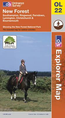 New Forest, Southampton, Ringwood, Ferndown, Lymington, Christchurch and Bournemouth - OS Explorer Map Sheet OL22 (Sheet map, folded)