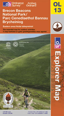 Brecon Beacons National Park - Eastern Area - OS Explorer Map OL13 (Sheet map, folded)