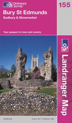 Bury St Edmunds, Sudbury & Stowmarket - OS Landranger Map 155 (Sheet map, folded)