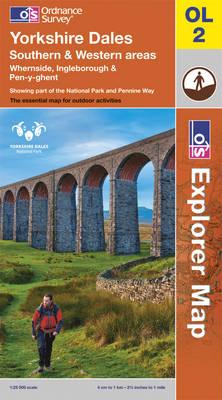Yorkshire Dales - OS Explorer Map OL02 (Sheet map, folded)