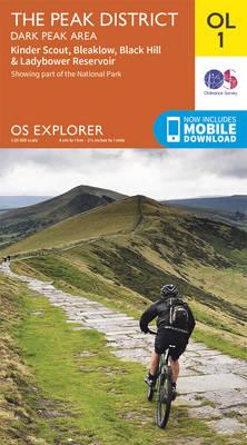 The Peak District - Dark Peak Area, Kinder Scout, Bleaklow, Black Hill & Ladybower Reservoir - OS Explorer Map OL 01 (Sheet map, folded)