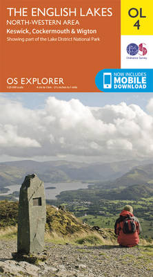 The English Lakes - North-Western Area, Keswick, Cockermouth & Wigton - OS Explorer Map OL 04 (Sheet map, folded)