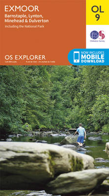 Exmoor, Barnstaple, Lynton, Minehead & Dulverton - OS Explorer Map OL 09 (Sheet map, folded)