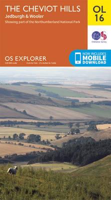 The Cheviot Hills, Jedburgh & Wooler - OS Explorer Map OL 16 (Sheet map, folded)
