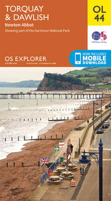 Torquay & Dawlish, Newton Abbot - OS Explorer Map OL 44 (Sheet map, folded)