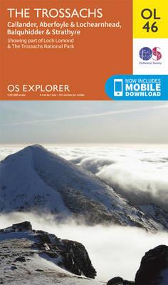 The Trossachs, Callander, Aberfoyle & Lochearnhead, Balquhidder & Strathyre - OS Explorer Map OL 46 (Sheet map, folded)