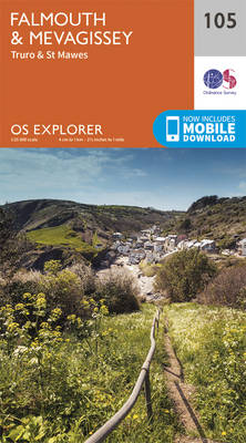 Falmouth and Mevagissey, Truro and St Mawes - OS Explorer Map 105 (Sheet map, folded)