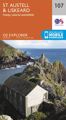 St.Austell, Liskeard, Fowey, Looe and Lostwithiel - OS Explorer Map 107 (Sheet map, folded)
