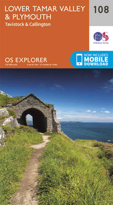 Lower Tamar Valley and Plymouth - OS Explorer Map 108 (Sheet map, folded)