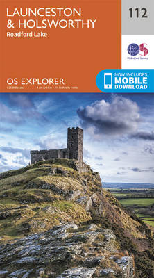 Launceston and Holsworthy - OS Explorer Map 112 (Sheet map, folded)