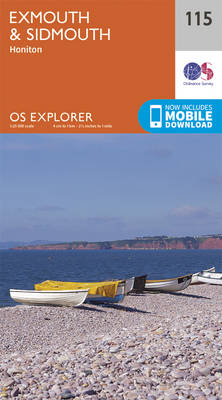 Exmouth and Sidmouth - OS Explorer Map 115 (Sheet map, folded)