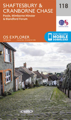 Shaftesbury, Cranbourne Chase, Poole, Wimbourne Minster and Blandford - OS Explorer Map 118 (Sheet map, folded)