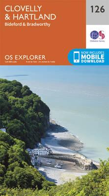 Clovelly and Hartland - OS Explorer Map 126 (Sheet map, folded)