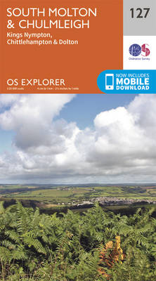 South Molton and Chulmleigh - OS Explorer Map 127 (Sheet map, folded)