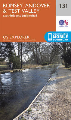 Romsey, Andover and Test Valley - OS Explorer Map 131 (Sheet map, folded)