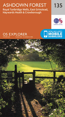 Ashdown Forest - OS Explorer Map 135 (Sheet map, folded)