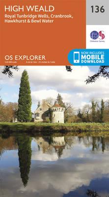 High Weald, Royal Tunbridge Wells - OS Explorer Map 136 (Sheet map, folded)