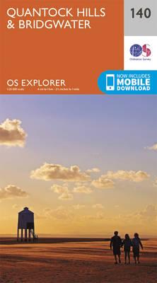 Quantock Hills and Bridgwater - OS Explorer Map 140 (Sheet map, folded)