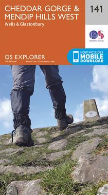 Cheddar Gorge and Mendip Hills West - OS Explorer Map 141 (Sheet map, folded)