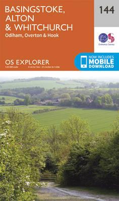 Basingstoke, Alton and Whitchurch - OS Explorer Map 144 (Sheet map, folded)