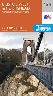 Bristol West and Portishead - OS Explorer Map 154 (Sheet map, folded)