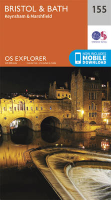Bristol and Bath - OS Explorer Map 155 (Sheet map, folded)