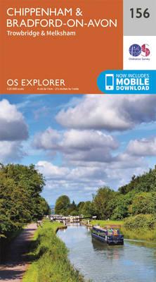 Chippenham and Bradford-on-Avon - OS Explorer Map 156 (Sheet map, folded)