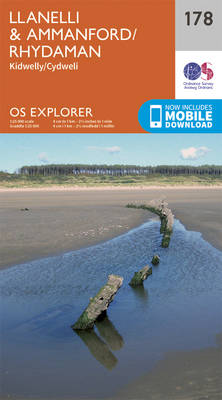 Llanelli and Ammanford/Rhydaman - OS Explorer Map 178 (Sheet map, folded)
