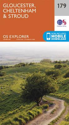 Gloucester, Cheltenham and Stroud - OS Explorer Map 179 (Sheet map, folded)