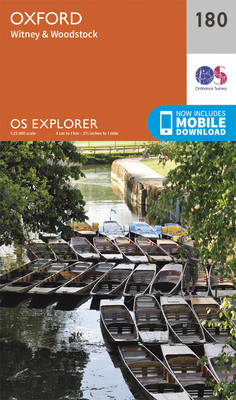 Oxford, Witney and Woodstock - OS Explorer Map 180 (Sheet map, folded)
