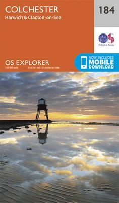 Colchester - OS Explorer Map 184 (Sheet map, folded)